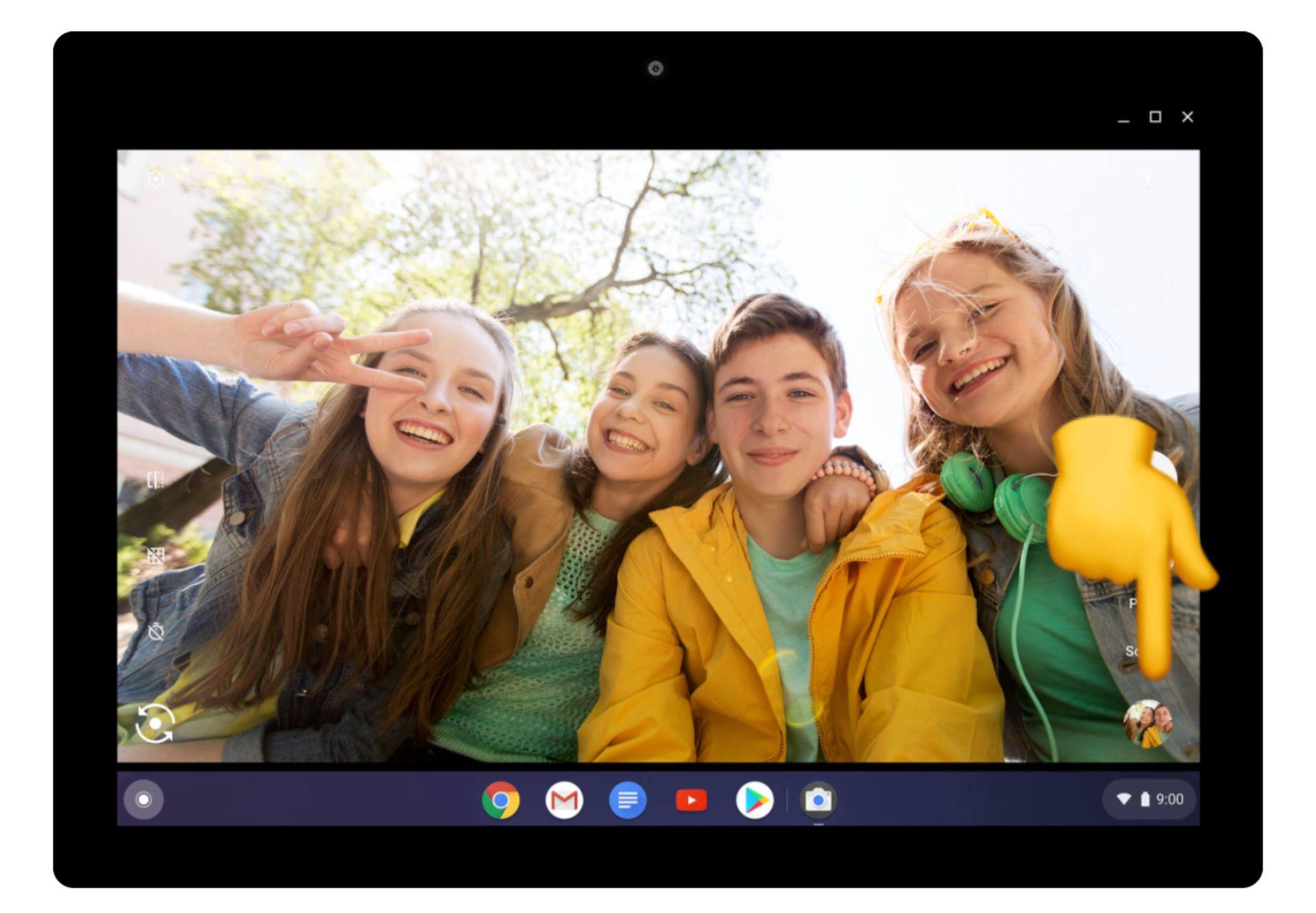captura de pantalla de dónde se encuentra una miniatura en un Chromebook