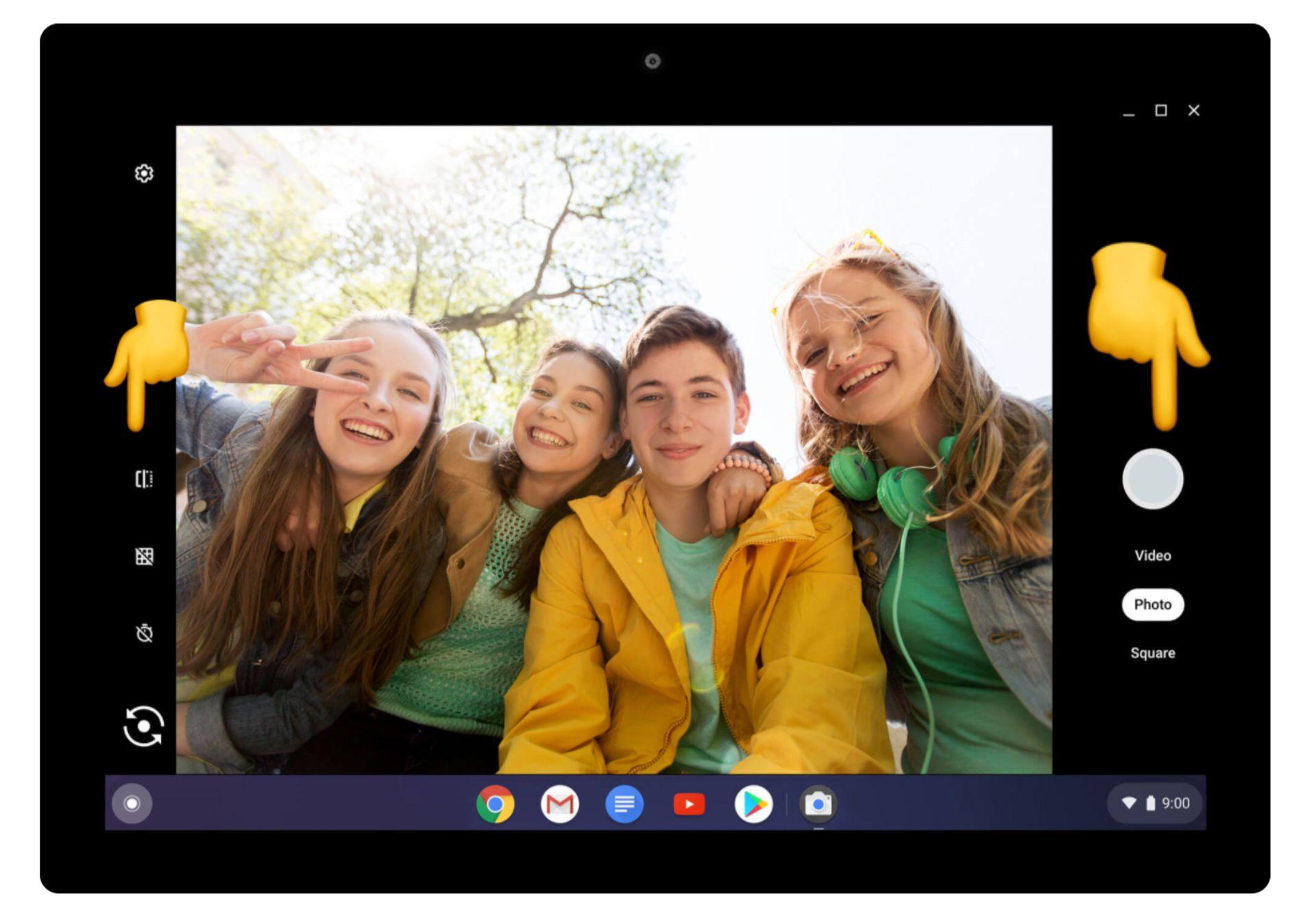 captura de pantalla de cómo tomar una foto en un Chromebook