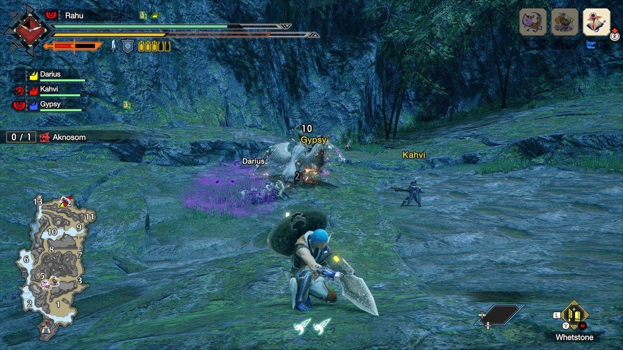 El Cazador afila su arma mientras sus aliados luchan