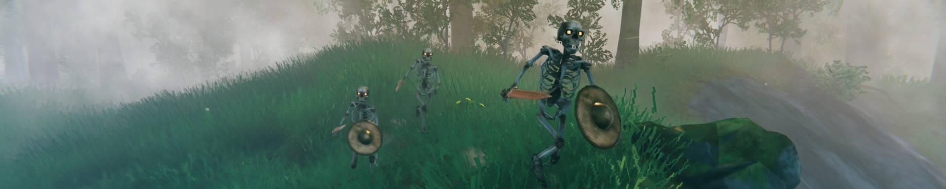 Valheim The Forest is Moving Base Raids Guía de esqueletos
