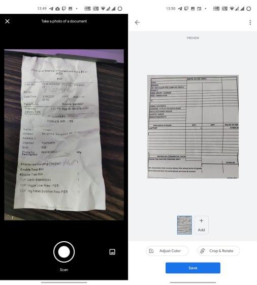 pila de google - camscanner 1