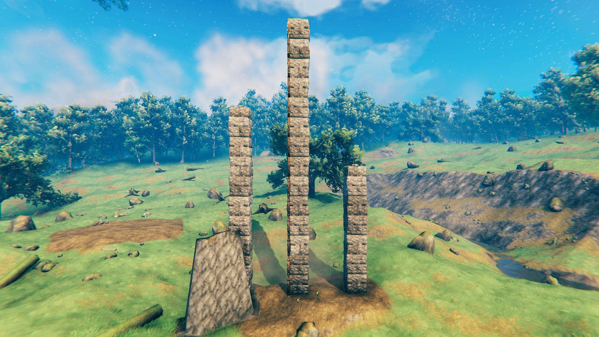 Alturas de guía de canteros y edificios de piedra de Valheim