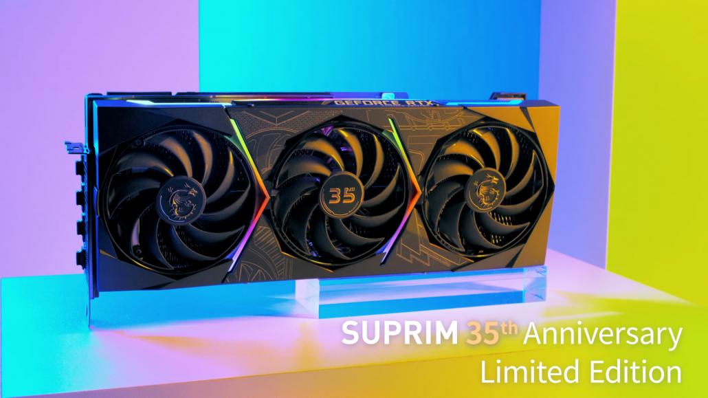 MSI ofrece un primer vistazo a su tarjeta gráfica GeForce RTX 30 SUPRIM 35th Anniversary Limited Edition 1