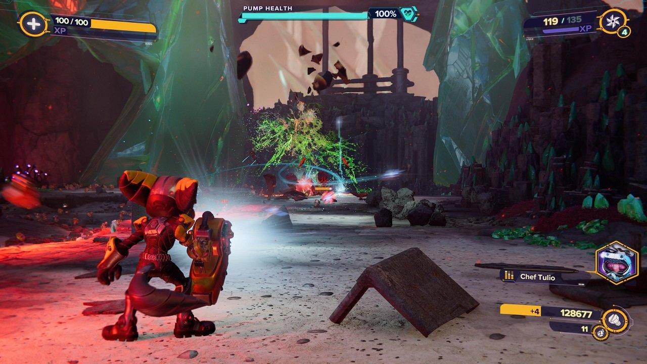 Ratchet & Clank Rift Apart Blizar Prime Spybot Battle Encuentra al chef desaparecido