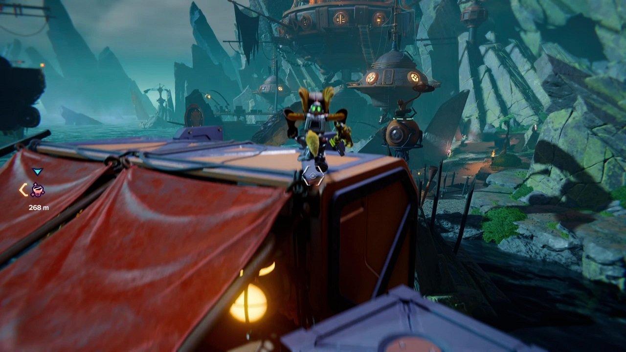 Ratchet & Clank Rift Apart Ardolis Spy Bot Plataformas